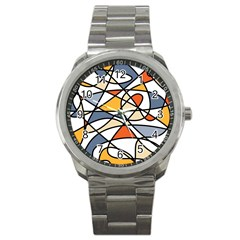 Abstract Background Abstract Sport Metal Watch