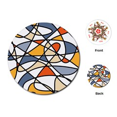 Abstract Background Abstract Playing Cards (round)