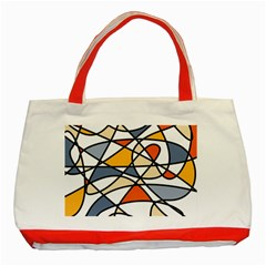 Abstract Background Abstract Classic Tote Bag (red)