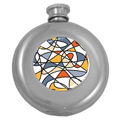 Abstract Background Abstract Round Hip Flask (5 Oz)