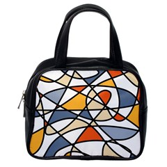Abstract Background Abstract Classic Handbags (one Side)
