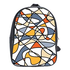Abstract Background Abstract School Bag (large)