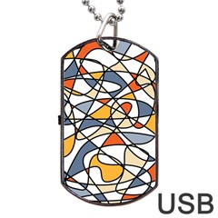 Abstract Background Abstract Dog Tag Usb Flash (one Side)