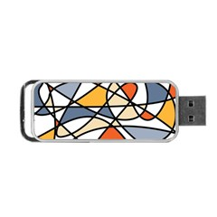 Abstract Background Abstract Portable Usb Flash (two Sides)