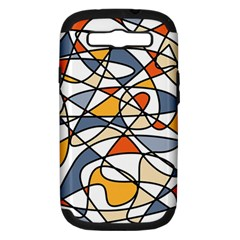 Abstract Background Abstract Samsung Galaxy S Iii Hardshell Case (pc+silicone)