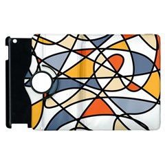 Abstract Background Abstract Apple Ipad 3/4 Flip 360 Case