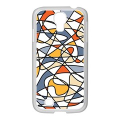 Abstract Background Abstract Samsung Galaxy S4 I9500/ I9505 Case (white)