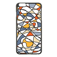Abstract Background Abstract Apple Iphone 6 Plus/6s Plus Black Enamel Case