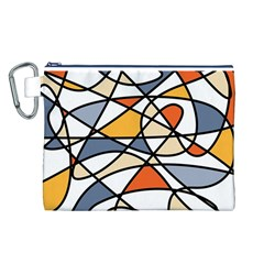 Abstract Background Abstract Canvas Cosmetic Bag (l)