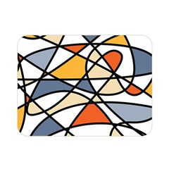 Abstract Background Abstract Double Sided Flano Blanket (mini)