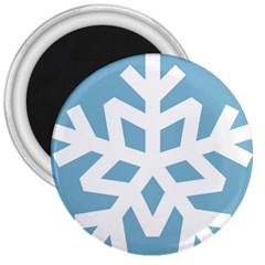 Snowflake Snow Flake White Winter 3  Magnets