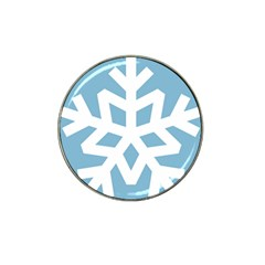 Snowflake Snow Flake White Winter Hat Clip Ball Marker (10 Pack)