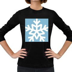Snowflake Snow Flake White Winter Women s Long Sleeve Dark T Shirts