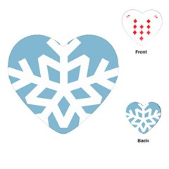 Snowflake Snow Flake White Winter Playing Cards (heart)