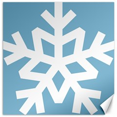 Snowflake Snow Flake White Winter Canvas 12  X 12