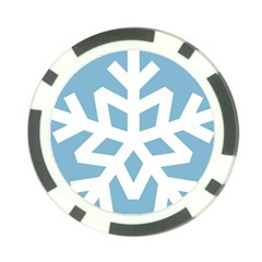 Snowflake Snow Flake White Winter Poker Chip Card Guard