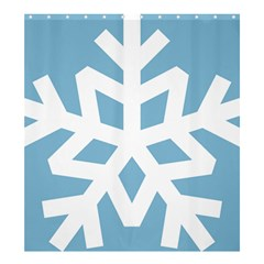 Snowflake Snow Flake White Winter Shower Curtain 66  X 72  (large)