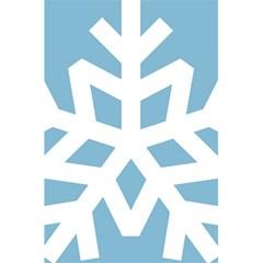Snowflake Snow Flake White Winter 5 5  X 8 5  Notebooks