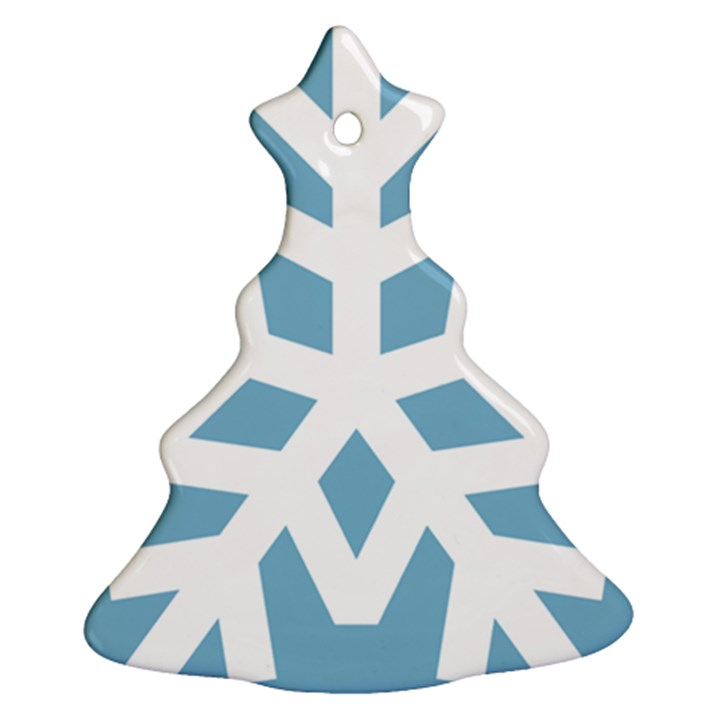 Snowflake Snow Flake White Winter Ornament (Christmas Tree)