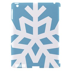 Snowflake Snow Flake White Winter Apple Ipad 3/4 Hardshell Case (compatible With Smart Cover)