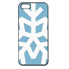 Snowflake Snow Flake White Winter Apple Iphone 5 Seamless Case (black)
