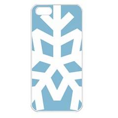 Snowflake Snow Flake White Winter Apple Iphone 5 Seamless Case (white)