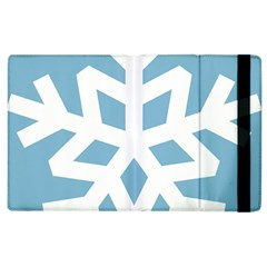 Snowflake Snow Flake White Winter Apple Ipad 2 Flip Case