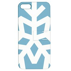 Snowflake Snow Flake White Winter Apple Iphone 5 Hardshell Case With Stand