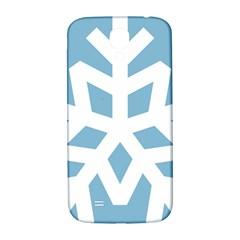 Snowflake Snow Flake White Winter Samsung Galaxy S4 I9500/i9505  Hardshell Back Case