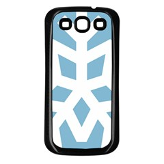Snowflake Snow Flake White Winter Samsung Galaxy S3 Back Case (black)