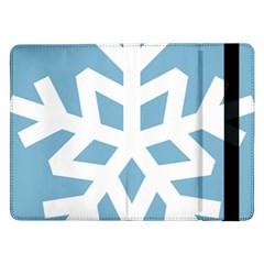 Snowflake Snow Flake White Winter Samsung Galaxy Tab Pro 12 2  Flip Case