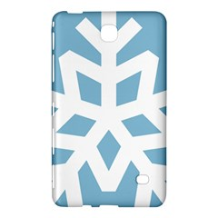 Snowflake Snow Flake White Winter Samsung Galaxy Tab 4 (8 ) Hardshell Case