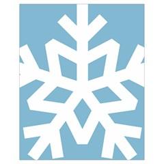 Snowflake Snow Flake White Winter Drawstring Bag (small)
