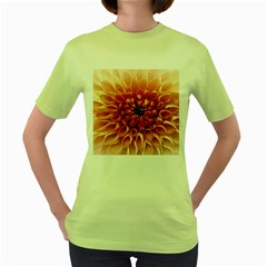 Dahlia Flower Joy Nature Luck Women s Green T Shirt