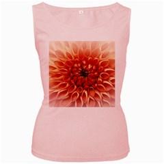Dahlia Flower Joy Nature Luck Women s Pink Tank Top