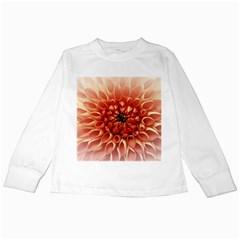 Dahlia Flower Joy Nature Luck Kids Long Sleeve T Shirts