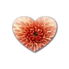 Dahlia Flower Joy Nature Luck Rubber Coaster (heart)