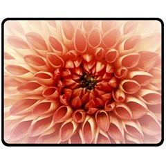 Dahlia Flower Joy Nature Luck Fleece Blanket (medium)