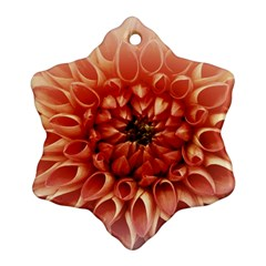 Dahlia Flower Joy Nature Luck Snowflake Ornament (two Sides)