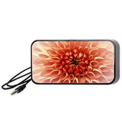 Dahlia Flower Joy Nature Luck Portable Speaker (black)