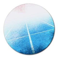 Court Sport Blue Red White Round Mousepads
