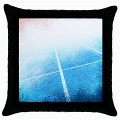 Court Sport Blue Red White Throw Pillow Case (black)