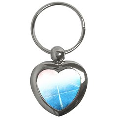 Court Sport Blue Red White Key Chains (heart)