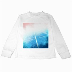 Court Sport Blue Red White Kids Long Sleeve T Shirts