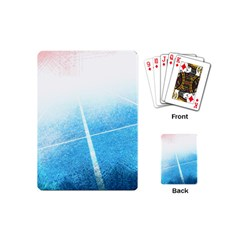 Court Sport Blue Red White Playing Cards (mini)