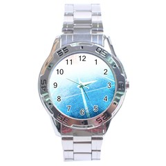 Court Sport Blue Red White Stainless Steel Analogue Watch