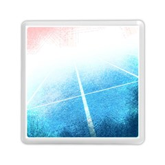Court Sport Blue Red White Memory Card Reader (square)