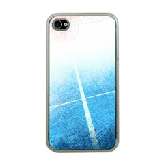 Court Sport Blue Red White Apple Iphone 4 Case (clear)