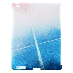 Court Sport Blue Red White Apple Ipad 3/4 Hardshell Case (compatible With Smart Cover)