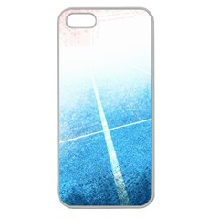 Court Sport Blue Red White Apple Seamless Iphone 5 Case (clear)